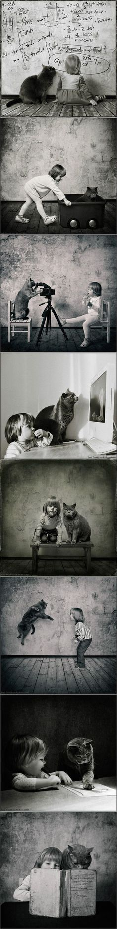 A Girl and Her Cat – Portraits by Andy Prokh
