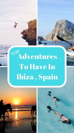 Top adventure to have in Ibiza, Spain. Ibiza is way more than this and we've put together a list of things to do in Ibiza to prove it. This list is jam-packed with epic adventures, experiences and things to do in Ibiza that will make your family members and friend's jealous that they miss out on these experiences. Click to read more at http://www.divergenttravelers.com/things-to-do-in-ibiza/ Ibiza Travel, Ibiza Trip, Ibiza Beach, Beaches In Ibiza, Ibiza Tourism, Spain Travel, Weekend In Ibiza, Spain Tourism, Ibiza Formentera
