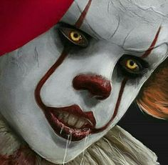 "An Art Edit Of Pennywise The Clown 🔪🔪 🔪 Bill Skarsgãrd In The Reboot ""It"" Stephen Kings Movie Penny Wise Clown, Clown Horror, Horror Monsters, Horror Art, Scary Movie Characters, Scary Movies, Horror Movies, Le Clown, Creepy Clown"