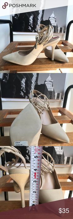 🙌🏾Brand New Aldo Slingback #0216AO Pump down the block in these Aldo bone/cream colored heels. Classic pointed toe Slingback heel with lace up details. ALL MY ITEMS ARE PRICE FAIRLY, PRICE IS FIRM. Bundle for discount. #women #heels #aldo #color #size7 #pumps #multicolored Aldo Shoes Heels