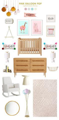 pink balloon pop baby room ideas