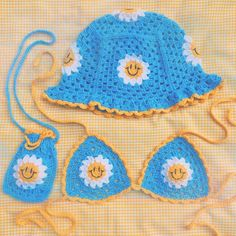 Crochet Bear, Cute Crochet, Crotchet, Crochet Crafts, Crochet Projects, Sewing Projects, Crochet Daisy, Crochet Crop Top, Crochet Bikini