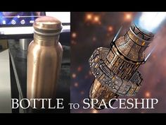 concept ship created with inspiration taken from copper bottle Concept Ships, Concept Art, Spaceship, Copper, Bottle, Day, Youtube, Inspiration, Model Ships