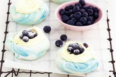 These pavlovas are true blue thanks to fresh berries - let's bring out that Aussie flavour!