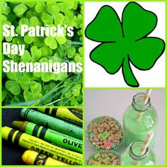 St. Patrick's Day fun- silliness, crafts and snacks!
