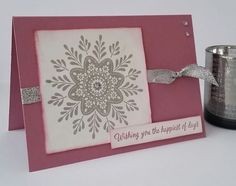 Stampin' Up! Demonstrator stampwithpeg – Quick Card Thurday : Frosted Medallions. Well its here again, time goes far too quickly, it's Quick Card Thursday already!! Today's project uses…