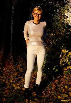 silber lackierter Pullover