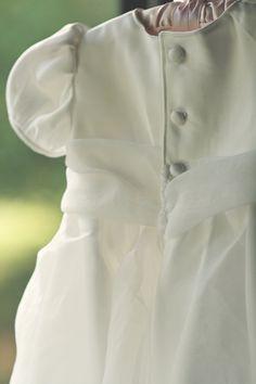 Wedding dress turned Christening gown #wedding #gown #christening