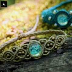 Macrame bracelets with bead that glow in the dark !!! Check them out in my shop ❤
