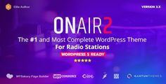 Buy Radio Station WordPress Theme With Non-Stop Music Player by QantumThemes on ThemeForest. is the most complete WordPress theme to create professional radio station websites, with non-stop music player. Non Stop Music, Radio Channels, Premium Wordpress Themes, Wordpress Demo, Event Calendar, Buy Tickets, News Online, Custom Logos, Like4like
