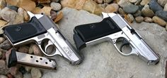 Comparing the PPK.380 and PPK/S .22LR they are nearly identical with the exception of the longer grip. From a material perspective the weight and alloy vs stainless does deliver a slightly different look and feel.