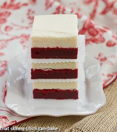 Red Velvet Brownies w/white chocolate icing