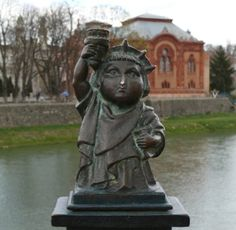 Mini-Liberty created by Mykhailo Kolodko, Uzhhorod, Ukraine Ukraine, Liberty, Buddha, Sculpture, Statue, Mini, Artist, Freedom, Political Freedom