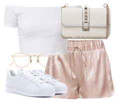 """Untitled #2327"" by theeuropeancloset ❤ liked on Polyvore featuring adidas, Eyevan 7285 and Valentino"