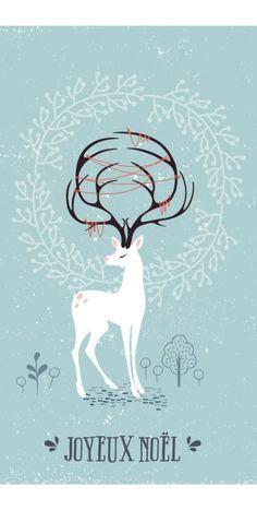 Une carte de vœux DIY en transfert sur bois à faire soi-même avec une illustration à télécharger et imprimer pour Noël.
