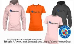 #AUTISM Warrior Mom Tee's In COLOR!  http://www.autismunited.org/shop/wmcolor