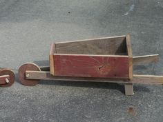 wheel barrow planter from some old barn wood