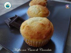 Muffin con cuore di cioccolato - dolce senza glutine-