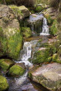 A rocky moorland stream in North Derbyshire (England) by Andrew Kearton