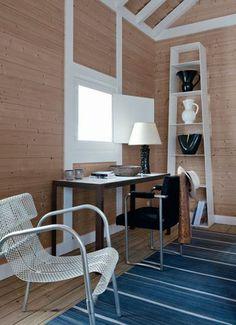 Charmante maison de vacances version cabane, Comporta, Portugal : Un bureau en bois sobre et élégant