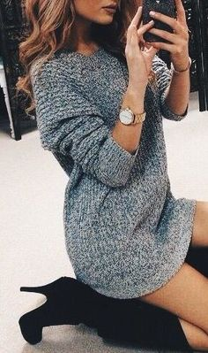 Sweater dresses are the perfect fall outfit!
