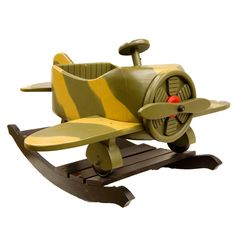 Baby Rockers Rocker Aeroplane - Beyond the Rack - would probably repaint it though.. hate camo.