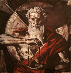 Chronos god of time father of Zeus