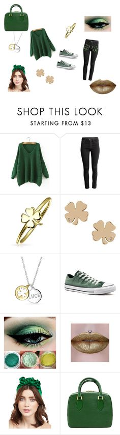 """St. Patrick's Day"" by paitynpup123 ❤ liked on Polyvore featuring WithChic, Bling Jewelry, Converse and Jennifer Behr"