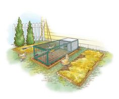 Build an Affordable, Portable and Predator-Proof Chicken Coop MOTHER's Mighty Chicken-Mobile is perfect for backyard poultry enthusiasts who want to keep just a few chickens in a safe environment, from MOTHER EARTH NEWS magazine. Chicken Fence, Mobile Chicken Coop, Portable Chicken Coop, Best Chicken Coop, Chicken Coop Plans, Building A Chicken Coop, Chicken Houses, Chicken Coops, Small Chicken