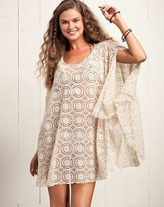 Lucky Brand Gypsy Cove Bermuda Sand Cover Up