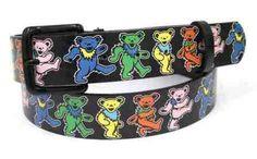 Grateful Dead - Dancing Bears Leather Belt