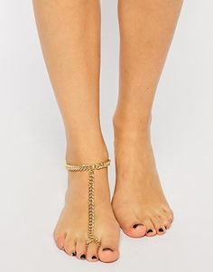 Enlarge ASOS Curb Chain Anklet and Toe Ring