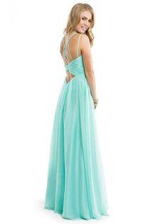 Canotta Senza Maniche Chiffon A-line/Stile Principessa Increspature Floor-length Prom Dress