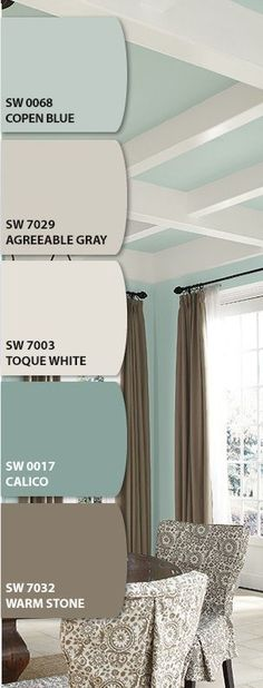 Neutral Paint Palette I love SW Agreeable Gray. We have that in our living and dining area. Colour Schemes, Color Combos, Kitchen Color Schemes, Colour Palettes, Basement Color Schemes, Basement Wall Colors, Beach Color Schemes, Office Wall Colors, Kids Basement