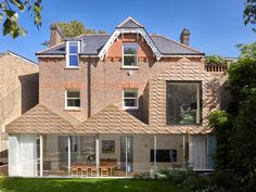 Architecture Today, Architecture Design, Inset Fireplace, Hampstead House, Basement Floor Plans, Glazed Walls, London House, Ground Floor Plan, Wood Interiors