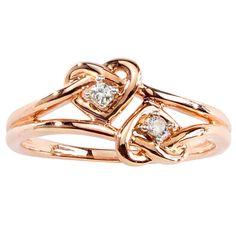 Eternal Promise™ Diamond Double Heart Knot Ring