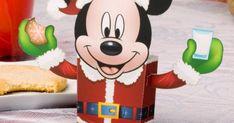 Christmas Mickey FavorBox Papercraft
