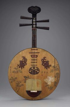 Lute (yueqin) , about 1886 China So that's what Kvothe plays!