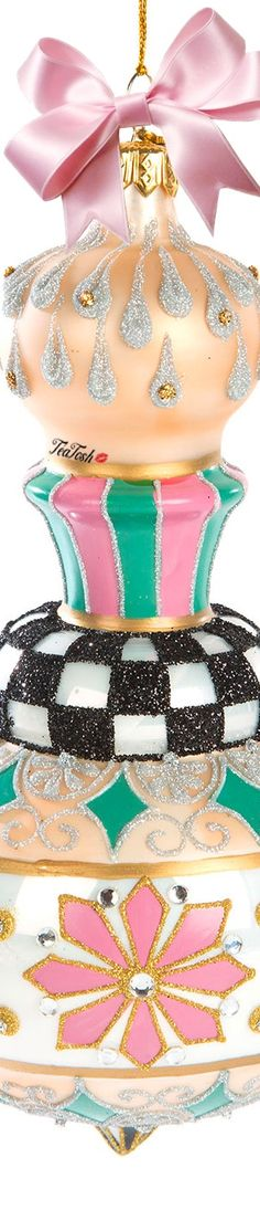 ❈Téa Tosh❈ MacKenzie-Childs, Home Sweet Snow Cupola Glass Ornament Pink Christmas, A Christmas Story, Beautiful Christmas, Twinkle Lights, Twinkle Twinkle, Christmas Countdown, Glass Ornaments, One Color, Christmas Decorations