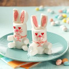 Easter Bunny Treats Recipe -These cute treats were easy for our kids to assemble, and the whole family had fun making them. —Holly Jost, Manitowoc, Wisconsin
