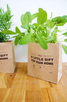 Envuelve con bolsas de papel craft