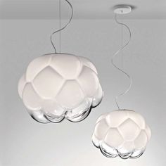 Cloudy Pendant light (glass) / F21 by Fabbian