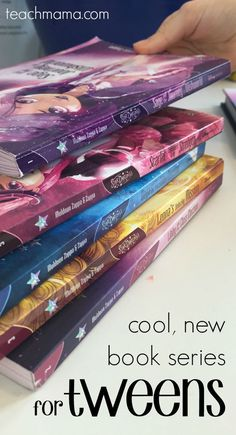 Looking for some books for tweens to read this summer? I'm so thankful that we were asked to take a look at Disney's new book series for tweens because we LOVE it. Here are our 5 reasons to love Disney's Star Darlings. Have a stack of books ready for summer reading programs and rainy summer days! #teachmama #bookreview #disneybooks #bookseries #summerreading #summer #rainydayactivity #library #disney