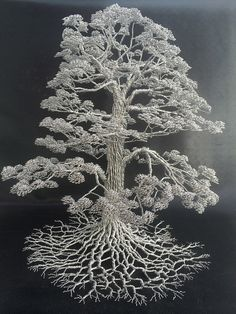 Wire Tree Sculptures by Clive Madison