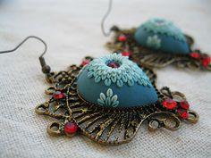 Polymer clay jewelry - Lena Handmade Jewelry Earrings - polymer clay jewelry My facebook page: https://www.facebook.com/pages/Lena-Handmade-Jewelry/675974519096025
