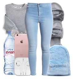 """Road Trip "" by honey-cocaine1972 ❤ liked on Polyvore featuring Blair, Evian, Puma and Forever 21"
