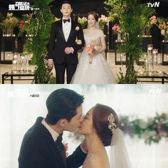 The end of 'Why Secretary Kim' Park Seo Joon ♥ Park Min Young, a real couple-like kiss ending – CastKo Korean K Pop, Korean Drama, Real Couples, Cute Couples, The Kiss, Joon Park, Young Wedding, Dramas, Lee Young