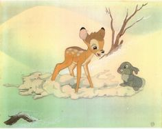 Bambi and Thumper. love love love We would always stay and watch a movie twice. Disney Nerd, Disney Love, Disney Magic, Disney Pixar, Walt Disney, Disney Characters, Disney Stuff, Bambi 3, Bambi 1942