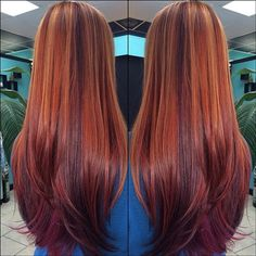 Beautiful RedHair with highlights and lowlights. I WANT!