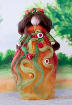 wool fairy, Fee aus Märchenwolle, fairy, felt, wool, craft, jahreszeitentisch, märchenwolle, waldorf https://www.facebook.com/Colorspell